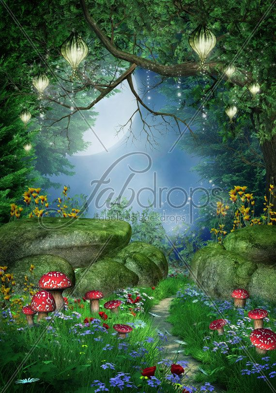 Enchanted Forest Fairy Photo Backdrop For Baby And By