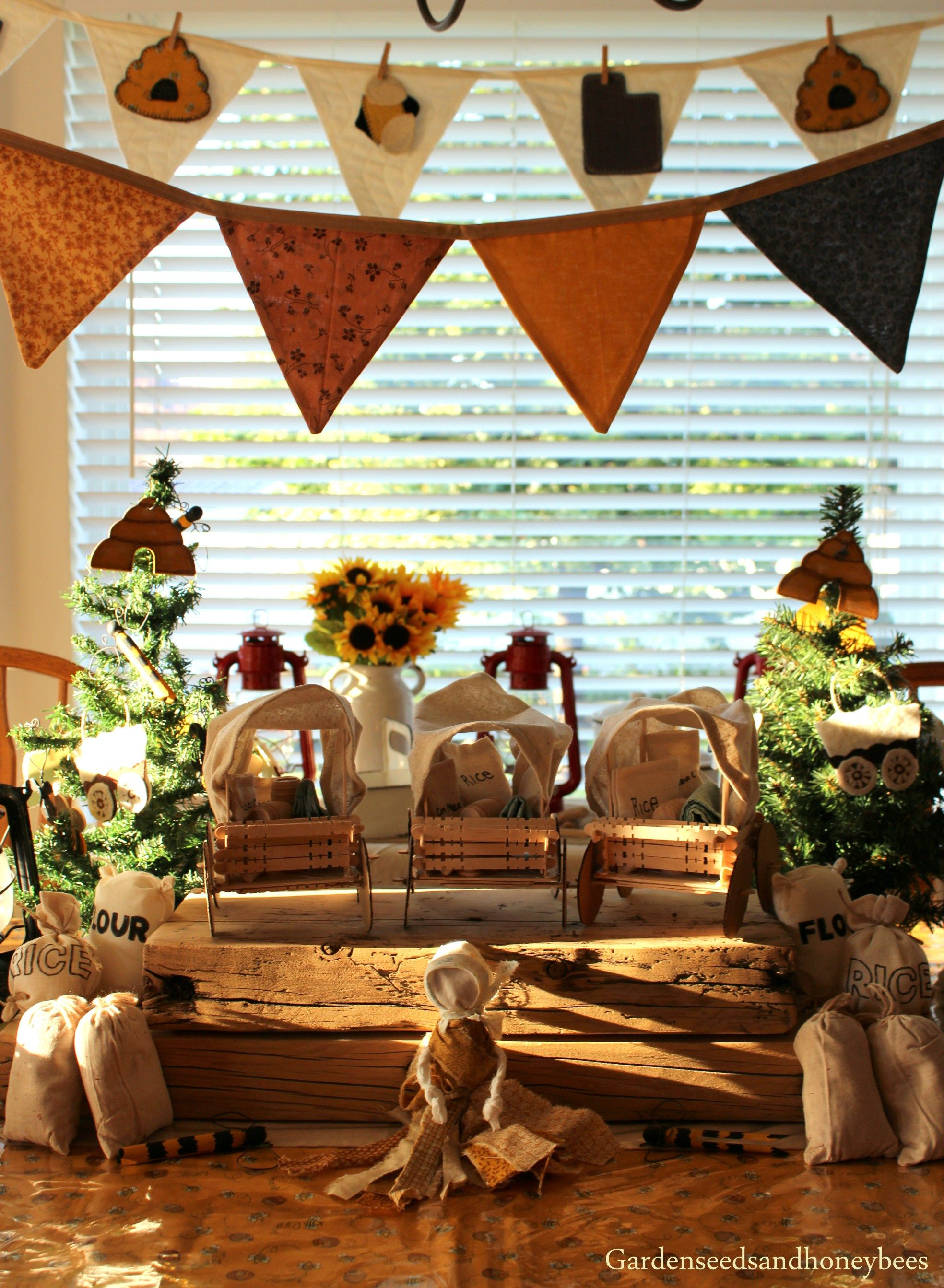 Covered Wagon Bee Decor July 24th