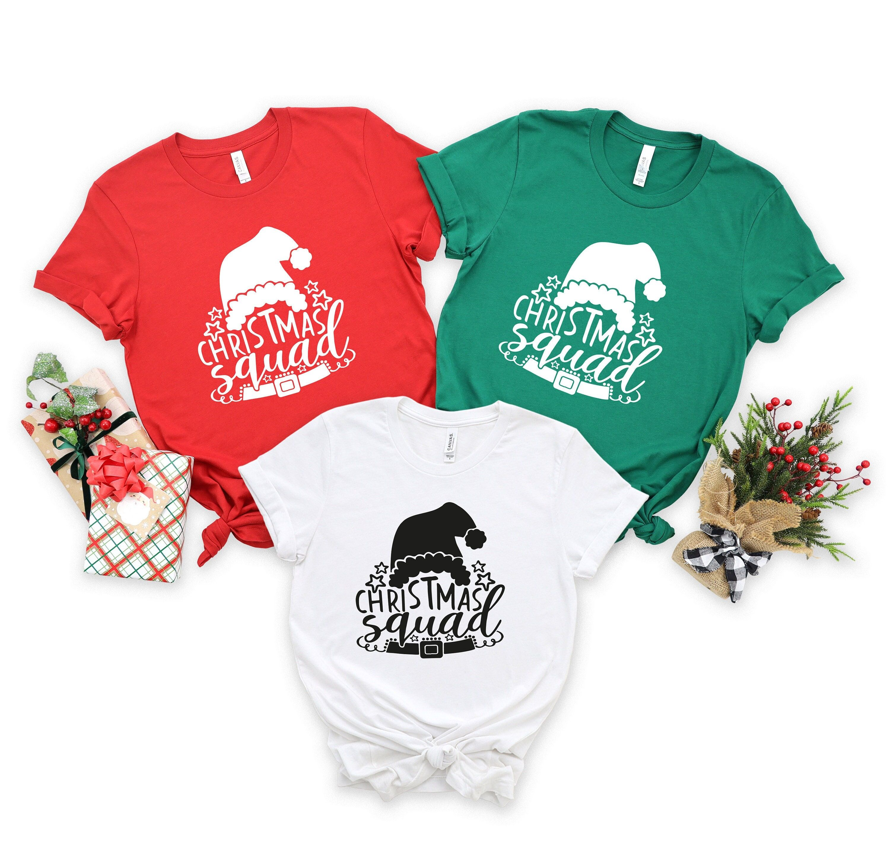 Christmas Squad Shirt, Christmas Family Squad Shirts, Christmas Family Shirts, Christmas T-shirt For Family, Custom Xmas Shirt, Xmas Gift and more custom / personalized tshirts, at Level Up Tees Online Store! ✔ By gifting it, you can create an unforgettable memory. ✔ This tshirt will make you feel happy and comfortable. ✔ We prepare our products with love and care We are here to provide you perfect designs, high levels of quality and affordable products. We are dedicated to giving you the best c