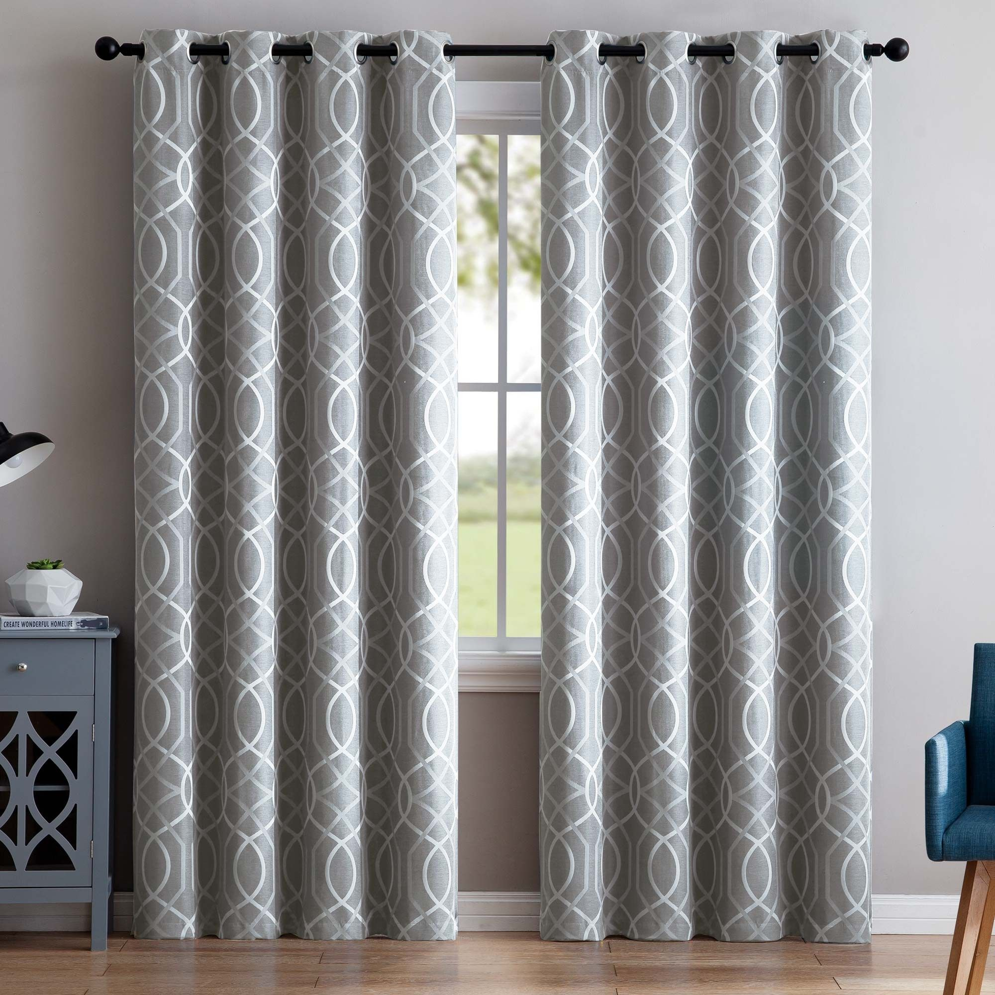 The Geometric Pattern Of Vcny S Aries Blackout Window Curtains