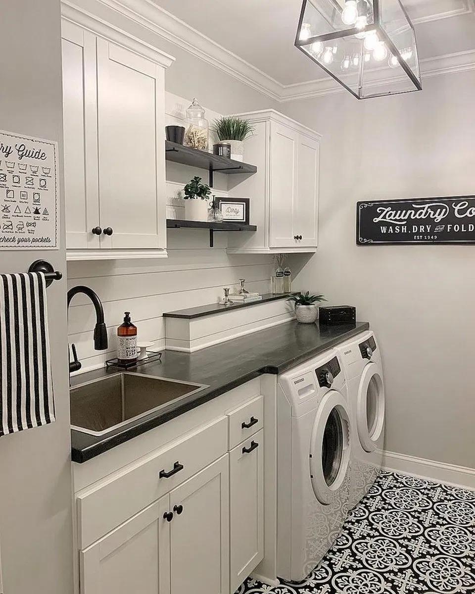 Photo of 36 Waschraum-Design-Ideen, die Sie dazu bringen, Wäsche zu waschen 19 # laundryroo …