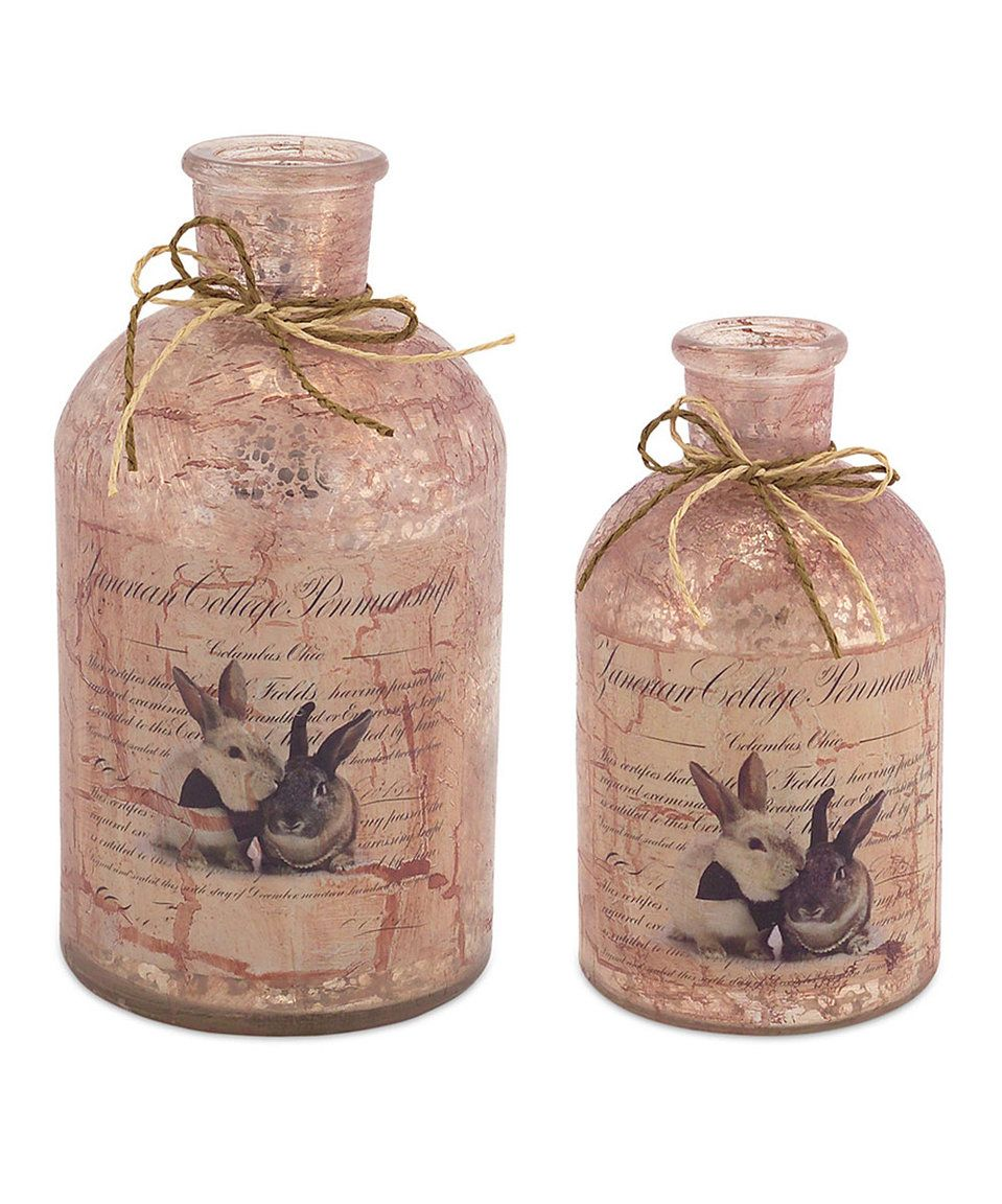 Take A Look At This Mercury Glass Bunny Bottles Set Of