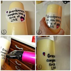 Diy Candle Printing Quick And Easy To Create Just About Any Design You Can Think Off Love This Idea