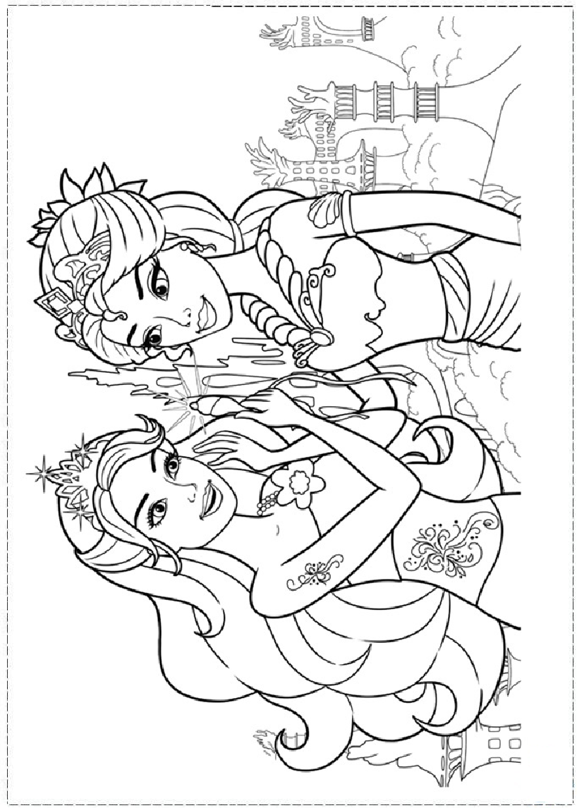 Barbie Mermaid Coloring page | Coloring pages and Printables | Pinterest