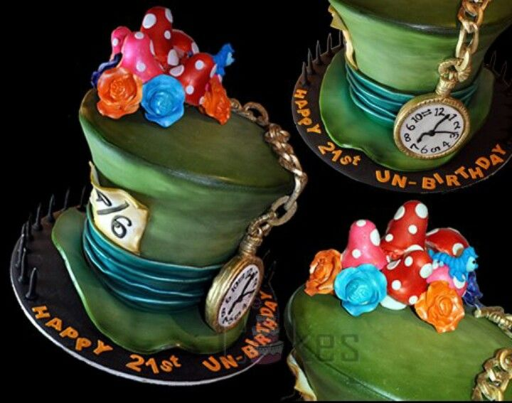 Pin By Kim Loudermilk On Desserts Mad Hatter Cake Alice In