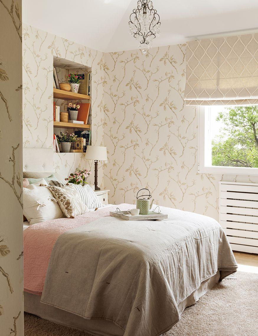 Dormitorio con papel pintado435540 Pinterest El feng shui Feng