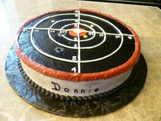 Gun target cake cakes Ive made Pinterest Target Cake and