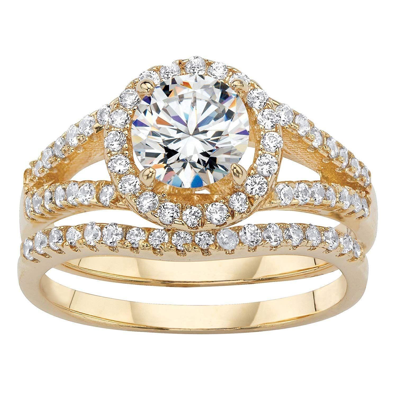 Seta Jewelry 14K Yellow GoldPlated Round Cubic Zirconia