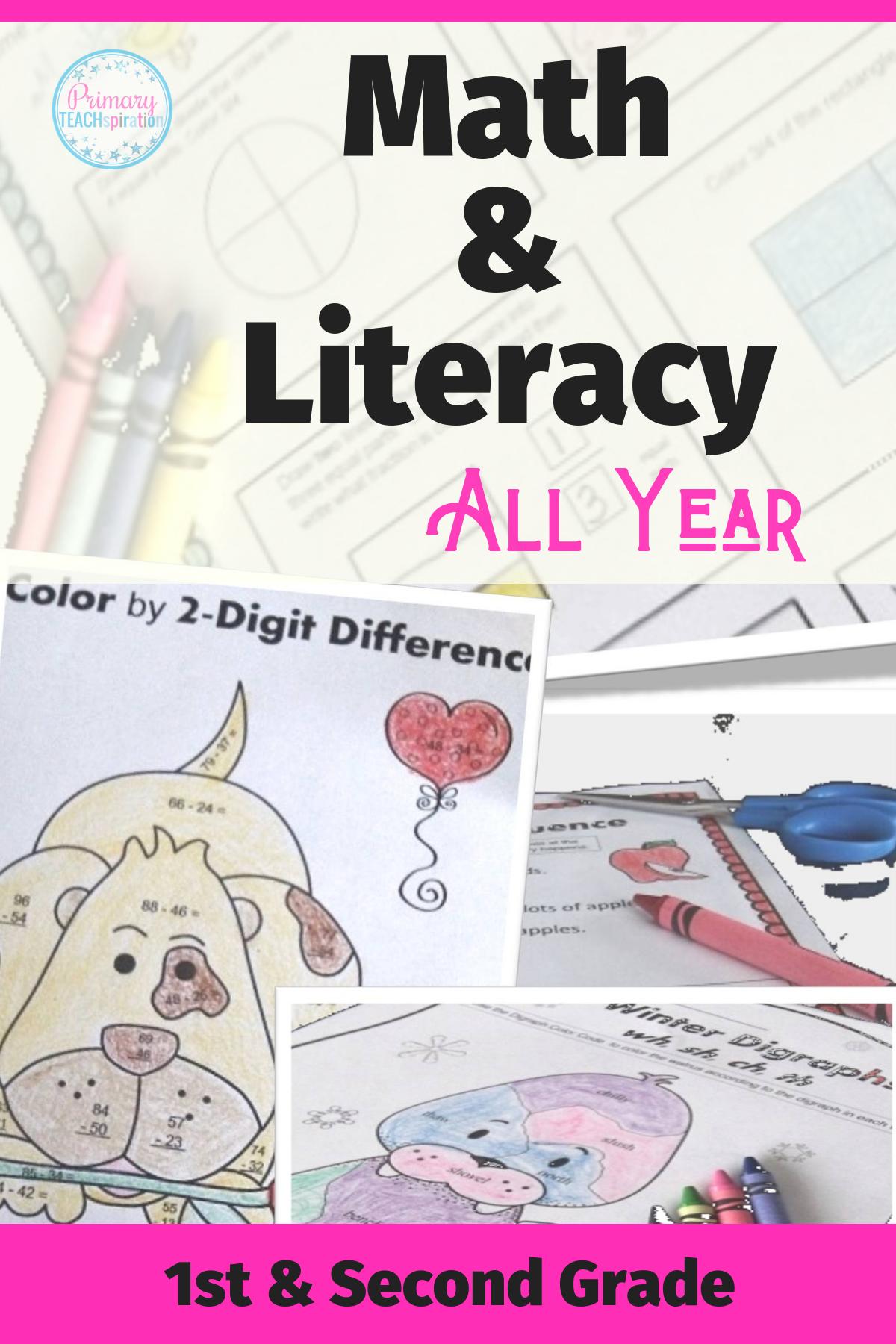 Math Amp Literacy No Prep All Year Bundle