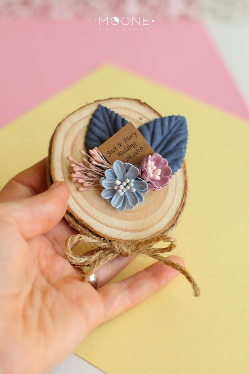 Set of 10 Rustic Wedding Favors for guests, Wood Slices Gifts with flowers and personalized tags, Blush Wedding Favors, Custom Favors #blush #custom #favors #flowers #gifts #guests #personalized #rustic #Set #slices #Tags #wedding #wood
