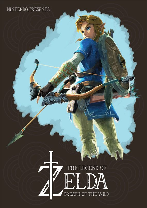 Legend Of Zelda Posters Prints - Breath Of The Wild - Nintendo