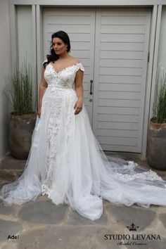 a60fc04e33d Plus size wedding gowns 2018 Adel (2)