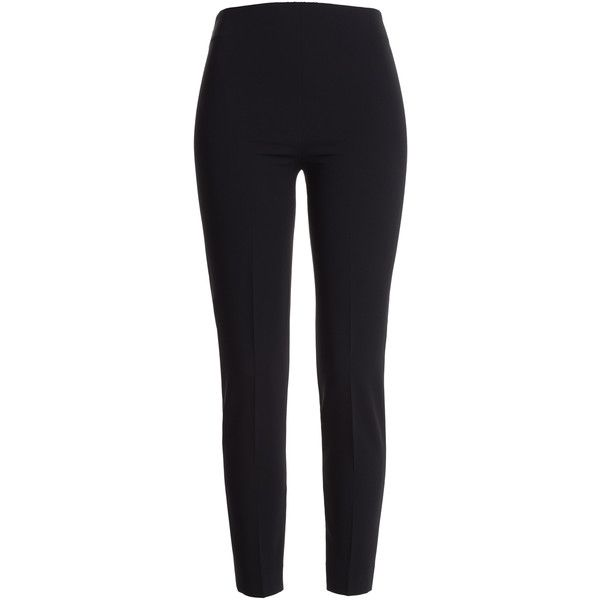 Moschino Zipped Ankle Crepe Trousers (€335) ❤ liked on Polyvore featuring pants, black, moschino, skinny fit pants, zipper trousers, skinny trousers and zipper pants
