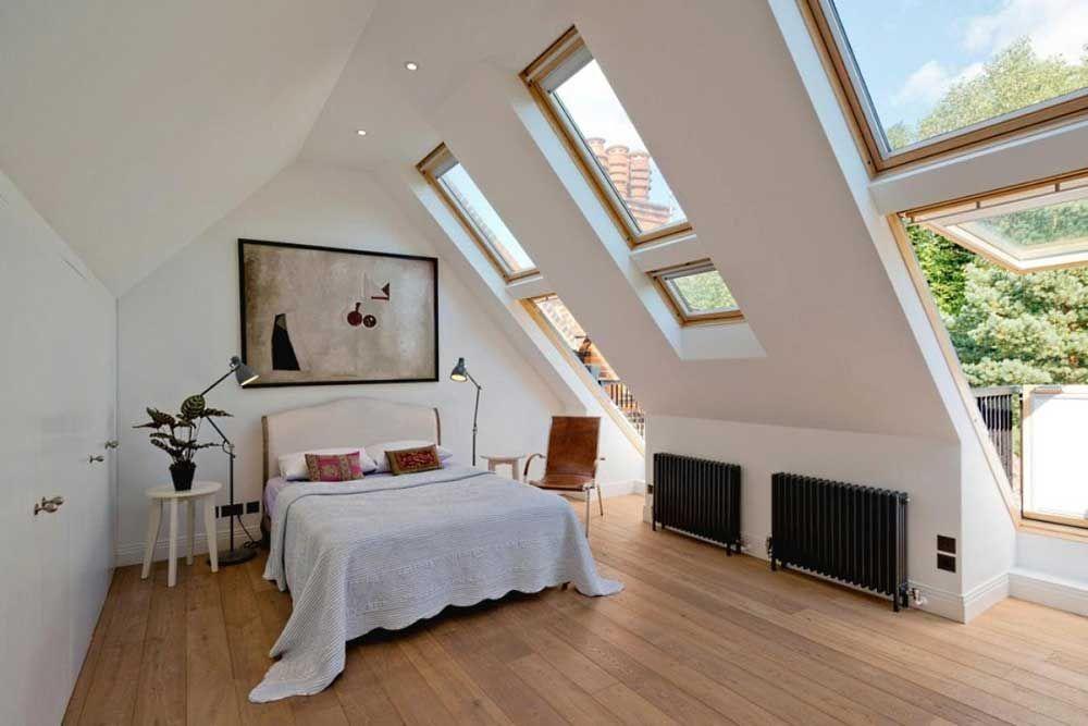 The Best Design Of Room Under Roof Wiki Homes Attic Master Bedroom Contemporary Bedroom Mid Century Modern Bedroom
