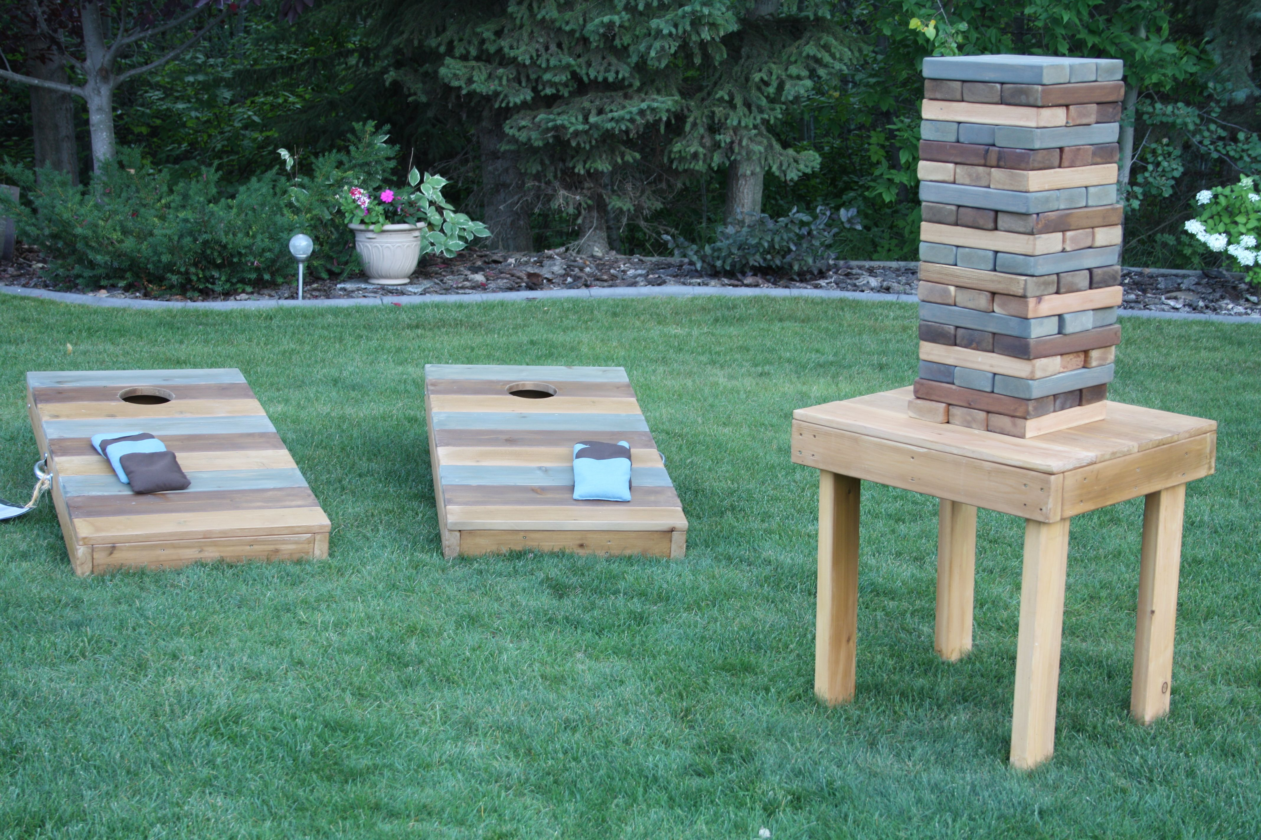 Corn Hole Toss and Giant Jenga available to rent | Diy ...