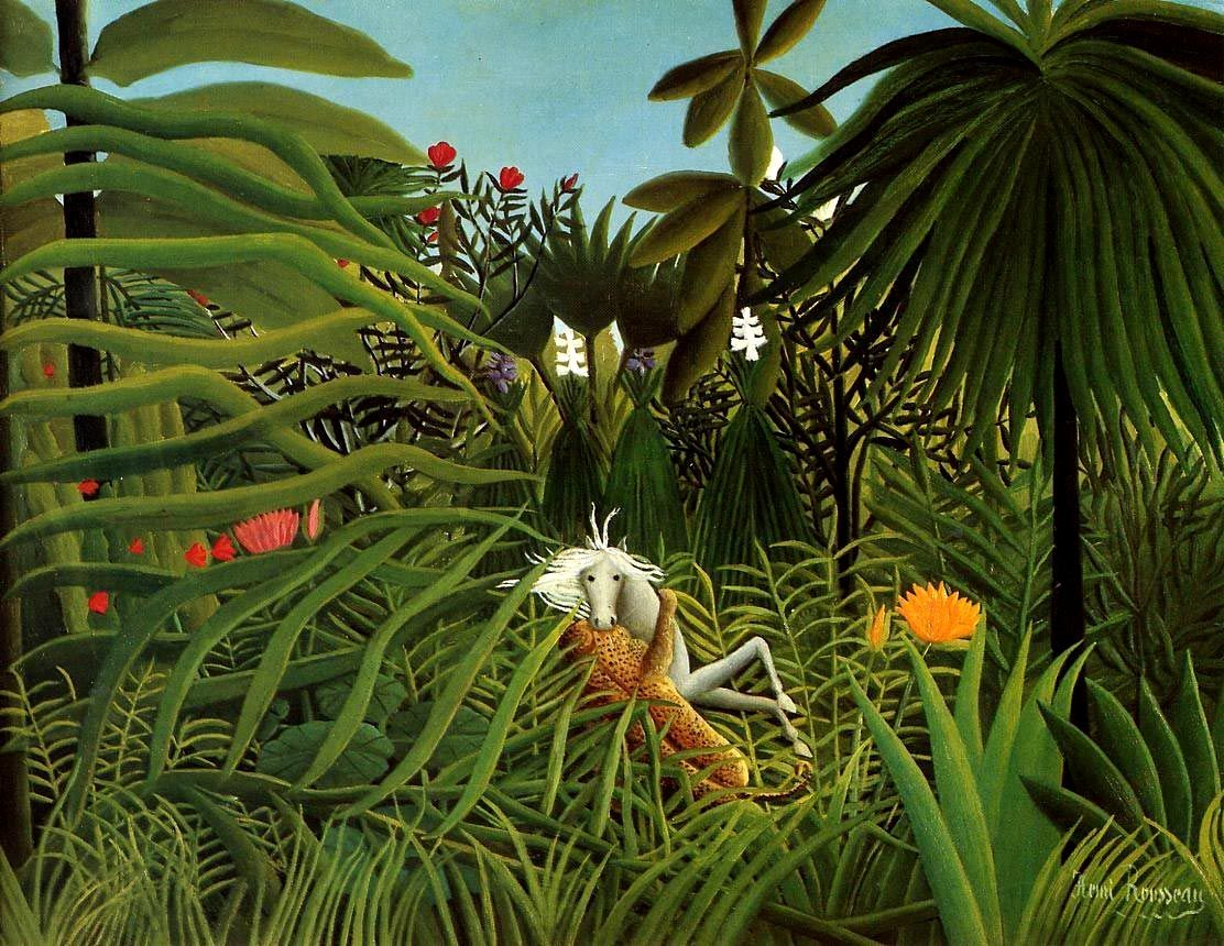 Анри Руссо | painting | Pinterest | Naive malerei, Naive und Malerei