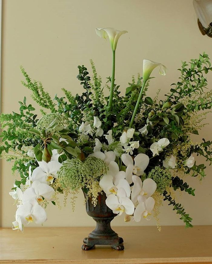 Flowers In Footed Vases - Botanical Brouhaha