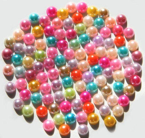 Each girl makes her own pearl bracelet...?