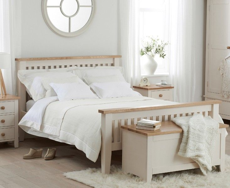 Astonishing Buy The Camden Ash And Cream Double Size Bed Frame At Oak Complete Home Design Collection Barbaintelli Responsecom