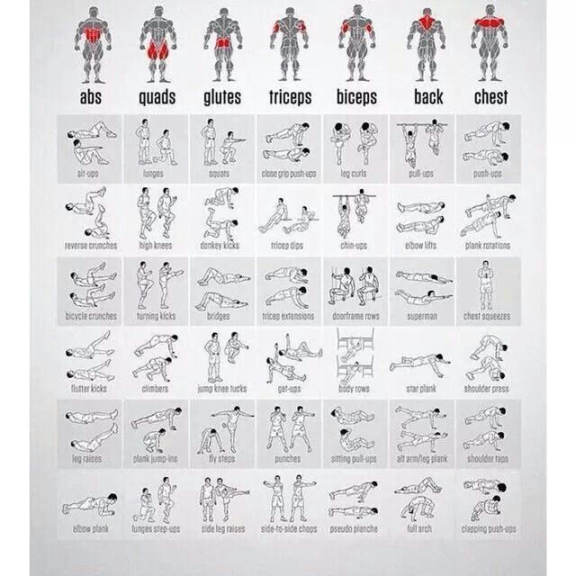 Nice Summary Of Body Weight Exercises