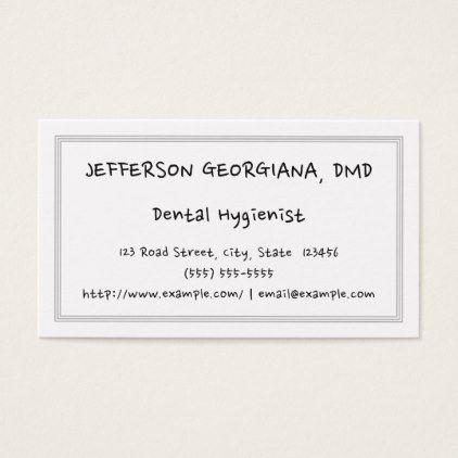 Plain fun dental hygienist business card plain pinterest plain fun dental hygienist business card colourmoves Gallery