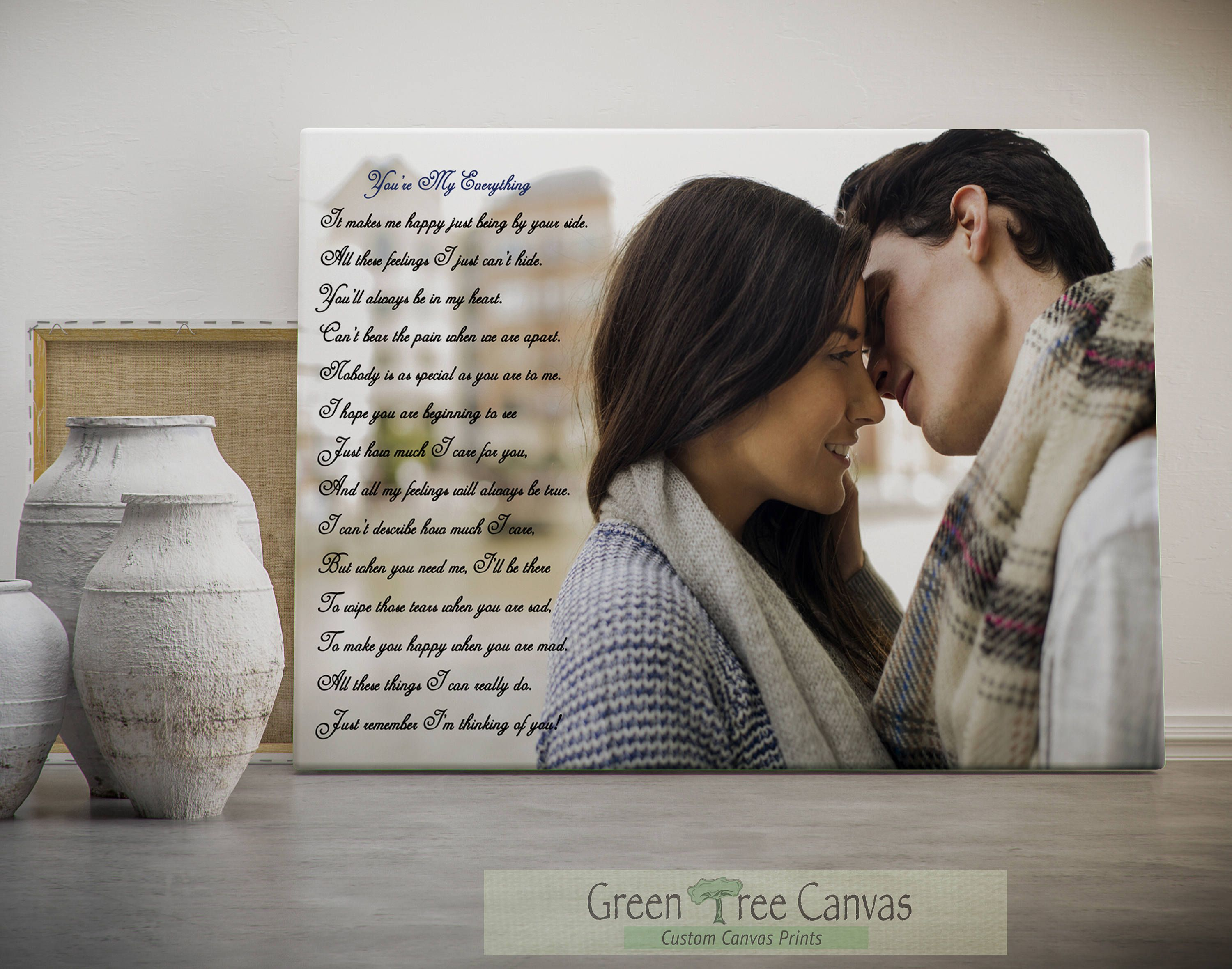 Photo To Canvas With Custom Poetry, Personalized Poetry, Personalized Gifts