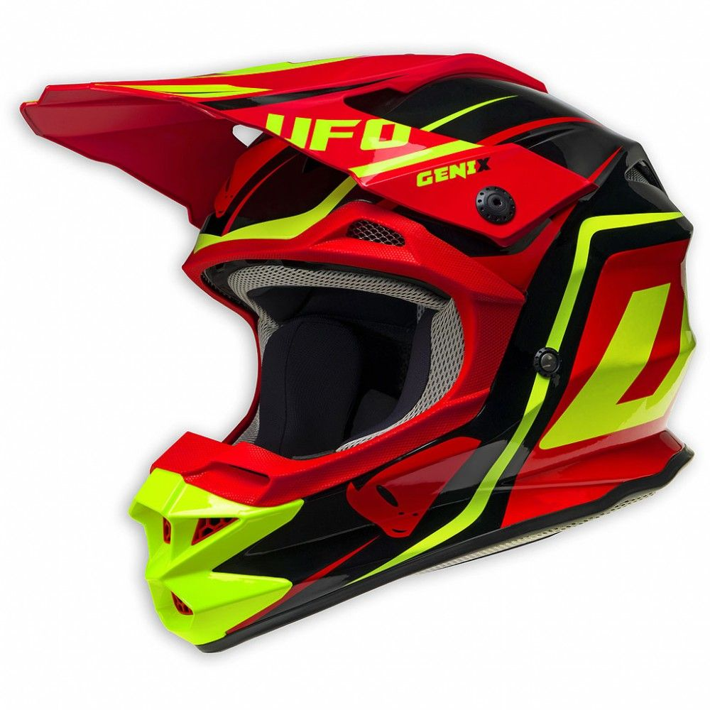 Ufo 2017 Interceptor 2 Helmet Genix Black Red Yellow Fluo Neon
