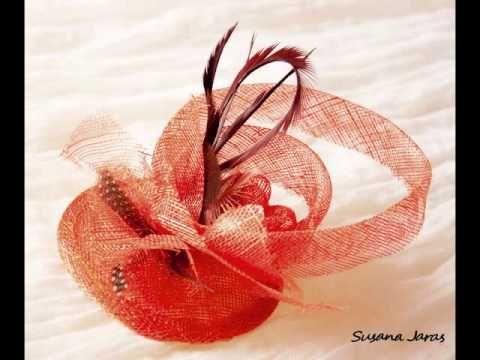 M Como hacer tocados de sinamay para madrinas o invitadas