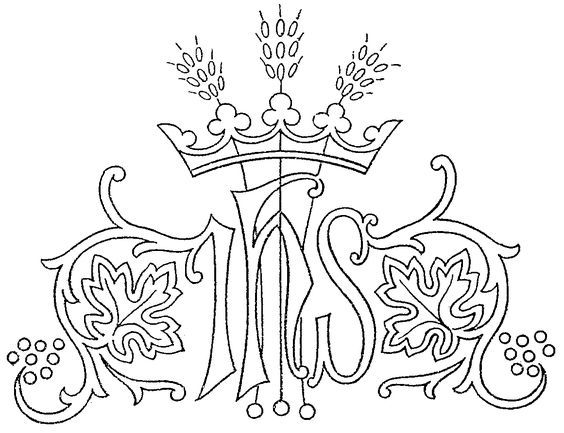 Ecclesiastical Embroidery Pattern Crown Wheat Embroidery Crown