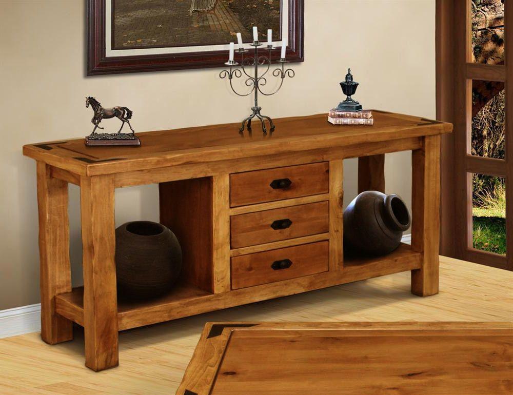 Fr Table Console En Bois Dans Un Style Rustique Nostalgie