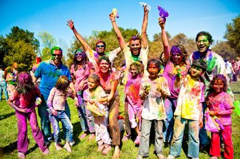 HOLI FESTIVAL Colors celebrate end of winter. Late March/ Early April.  Asha for Education, Stanford Holi 2013