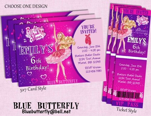 Barbie Pink Shoes Party Invitation