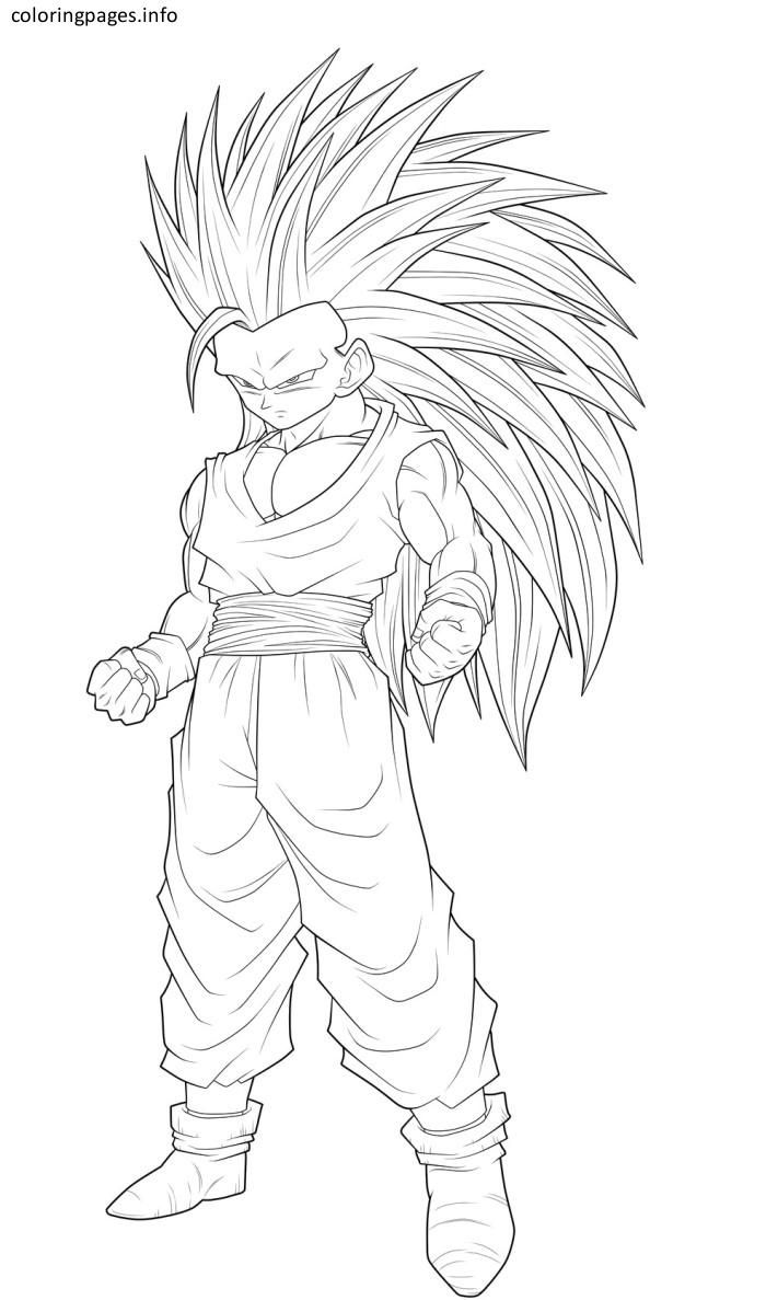 goku super saiyan 3 coloring pages | Coloring Pages | Super ...