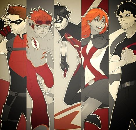 Young justice red
