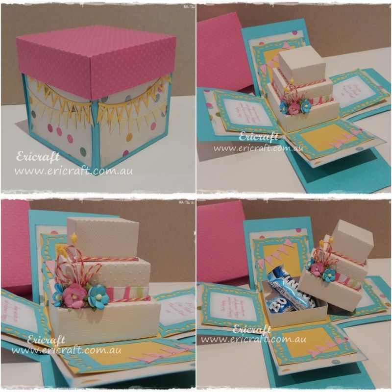Anniversary Valentine special explosion box tutorial – Boxed Birthday Cards