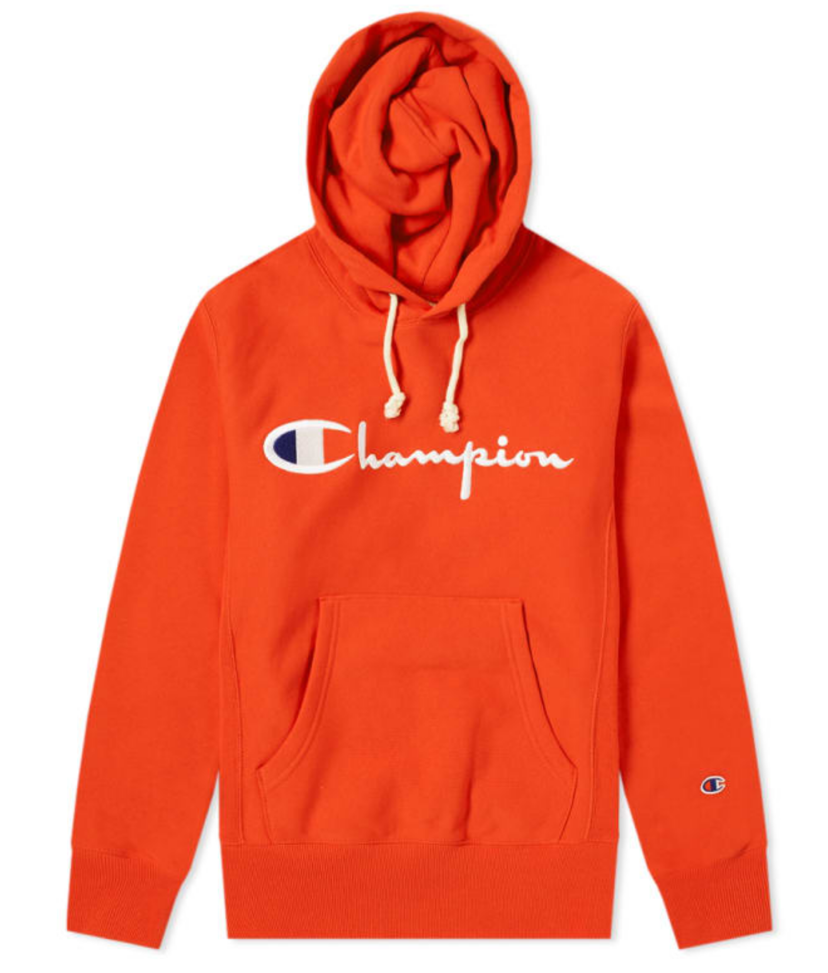 dc91862bb0f1 Champion Reverse Weave Logo Script Hoodie - Burnt Orange Champion Clothing  Mens