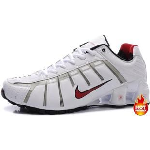 605b64690c9e www.asneakers4u.com Mens Nike Shox NZ 3 OLeven White Red Grey Black Nike