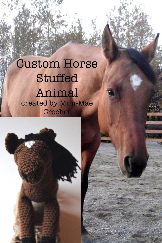 Horse plush toy Crocheted horse Custom Horse Pony Plush Horse Crochet Animal Crocheted Horse Horse stuffed animal MADE TO ORDER