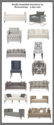 Really beautiful Brownstone furniture. Some same items as Williams Sonoma Home but 1/2 the price. South Shore Decorating Blog: DAILY DEALS