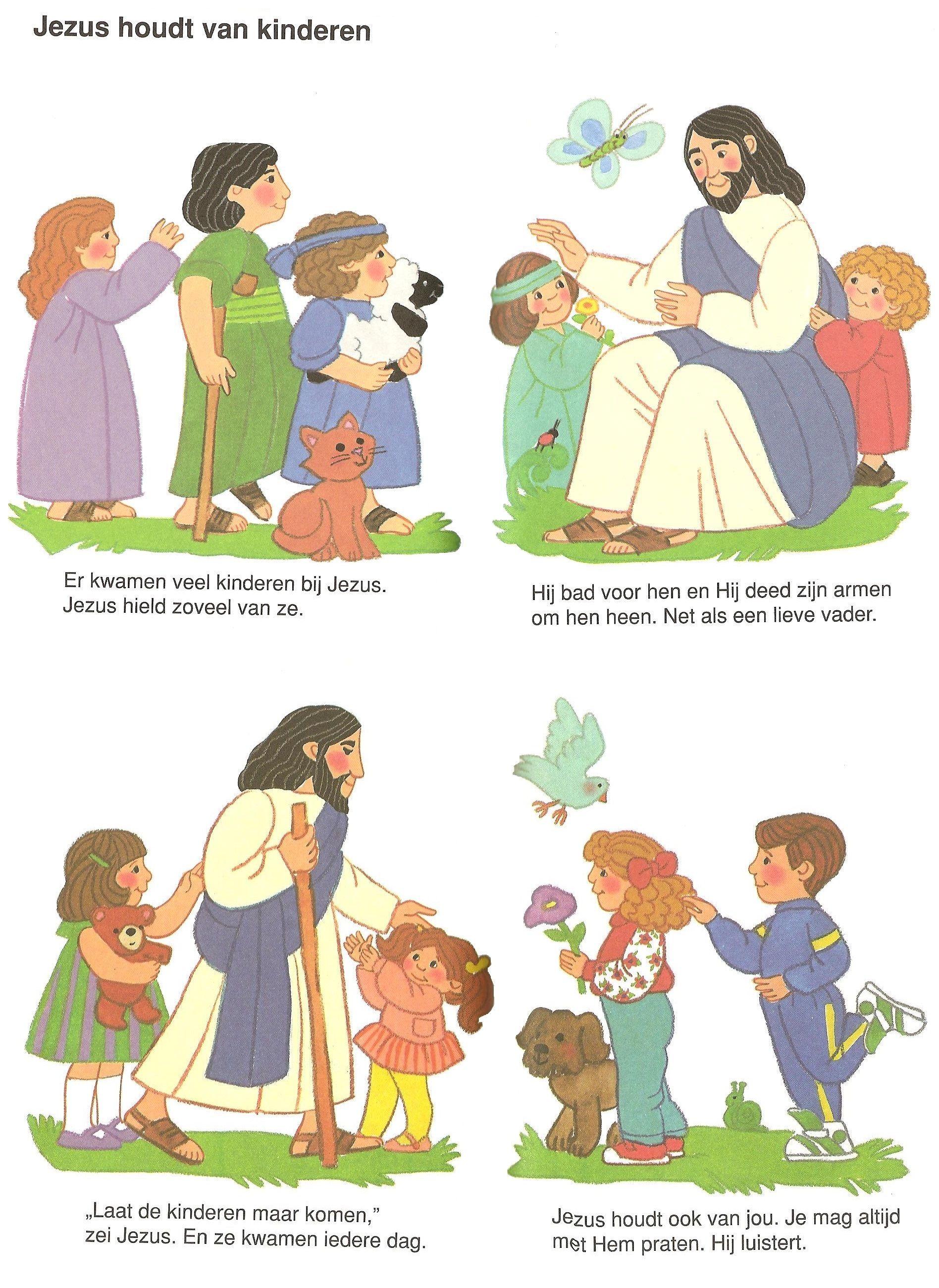 jezus houdt kinderen peuterbijbel