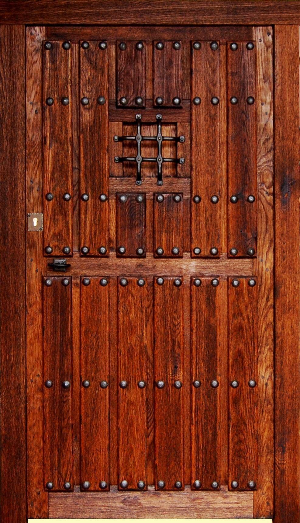 Puerta rustica ronda puertas chulas pinterest for Puertas principales de madera rusticas