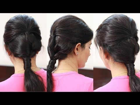 cute  easy ponytail hairstyle for school college work