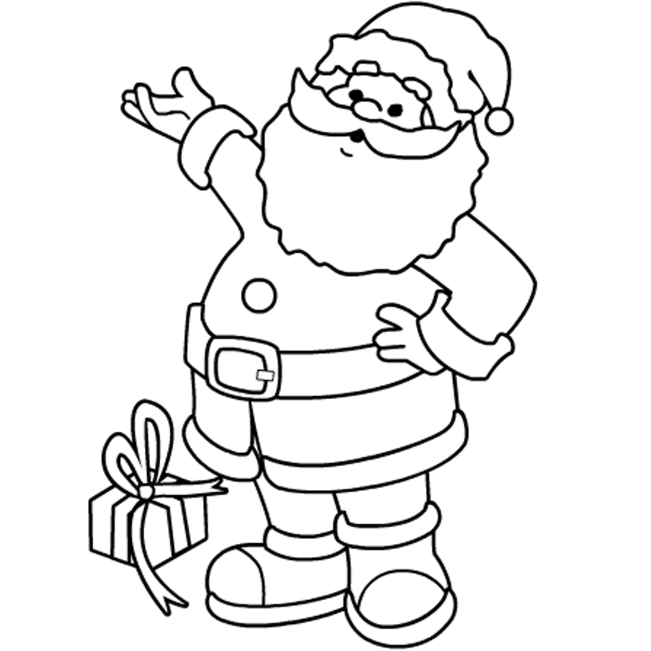santa claus coloring pages for toddlers kids