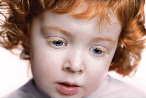 red eyelashes...so pretty on a child.
