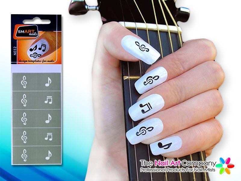 Smart Nails Music Nail Art Stencil Set N032 Nail Art Stencils