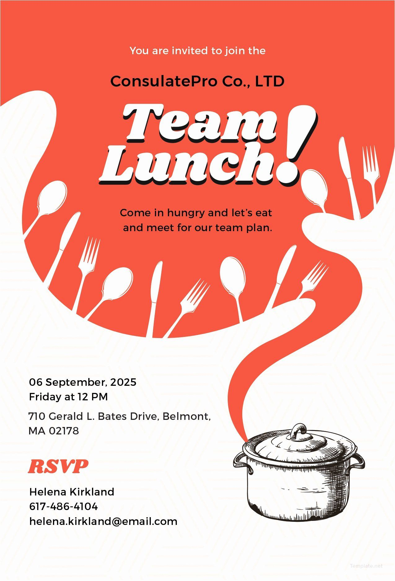 Lunch and Learn Invitation Template Fresh Informal