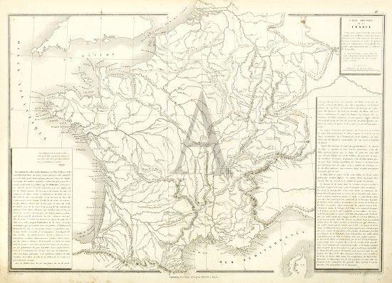 Carte Physique de la France | France map, Map, Us map