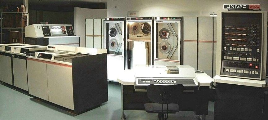 Photography of the complete Univac 9400 installation - www.remix-numerisation.fr