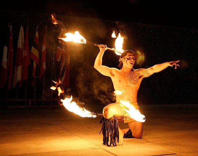 Hawaiian Fir Dance Fire Dancer Fire Bird Male Dancer
