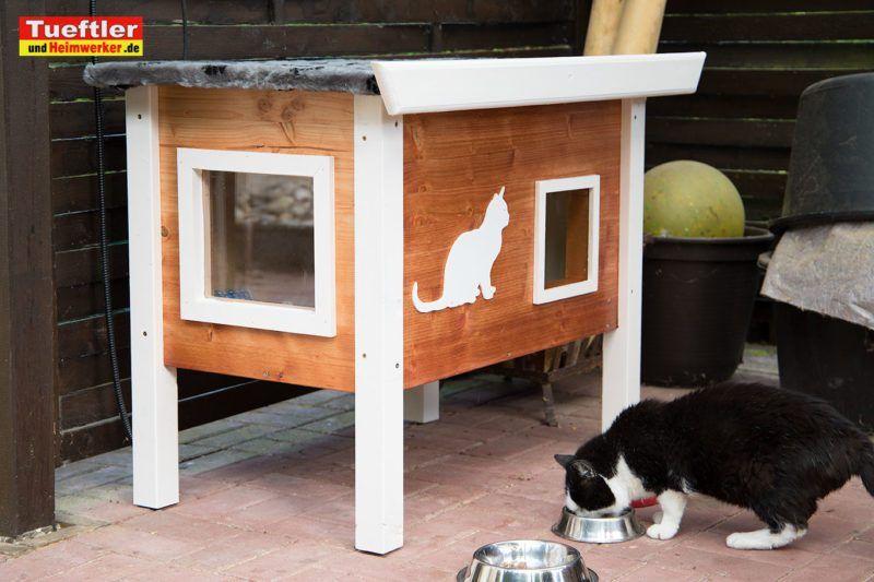 DIY Outdoor Katzenhaus für kalte Jahreszeiten selber bauen